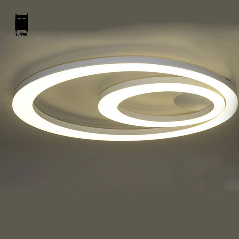 Modern LED Ceiling Light Fixture Simple Acrylic Round Plafonnier Lamp Luminaria Luminaire for Home Living Room Bedroom Kitchen(China (Mainland))