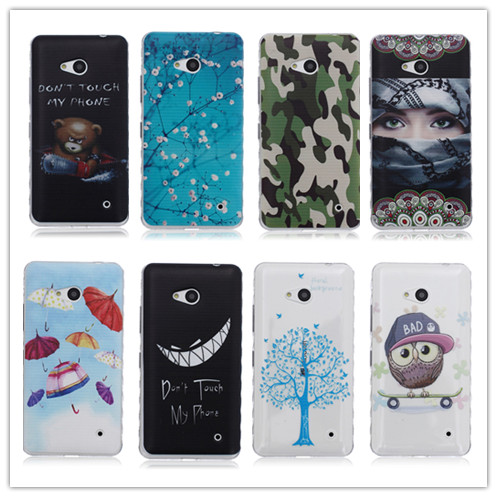 The New Cartoon Soft Silicone Protective Shell For Microsoft Nokia Lumia 640 N640 TPU Case Back Cover Paint Protection Shell(China (Mainland))