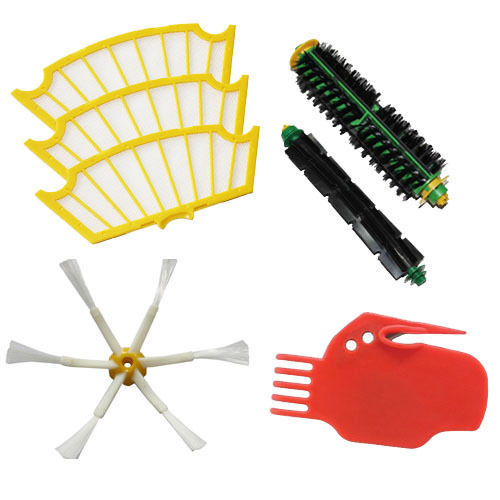 Brush 6 armed and Filter Set For iRobot Roomba 500 series 530 550 560 570 580(China (Mainland))