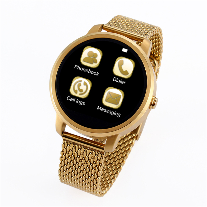New Design Bluetooth Smart Watch V360 Luxury Round Style WristWatch Smartwatch for iPhone Samsung Android Smartphone 4 Colors(China (Mainland))