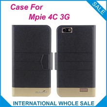 Mpie 4C 3G Case High Quality New Fashion Business Ultra-thin Flip Leather Case with Magnetic Clasp for Mpie 4C 3G Tracking