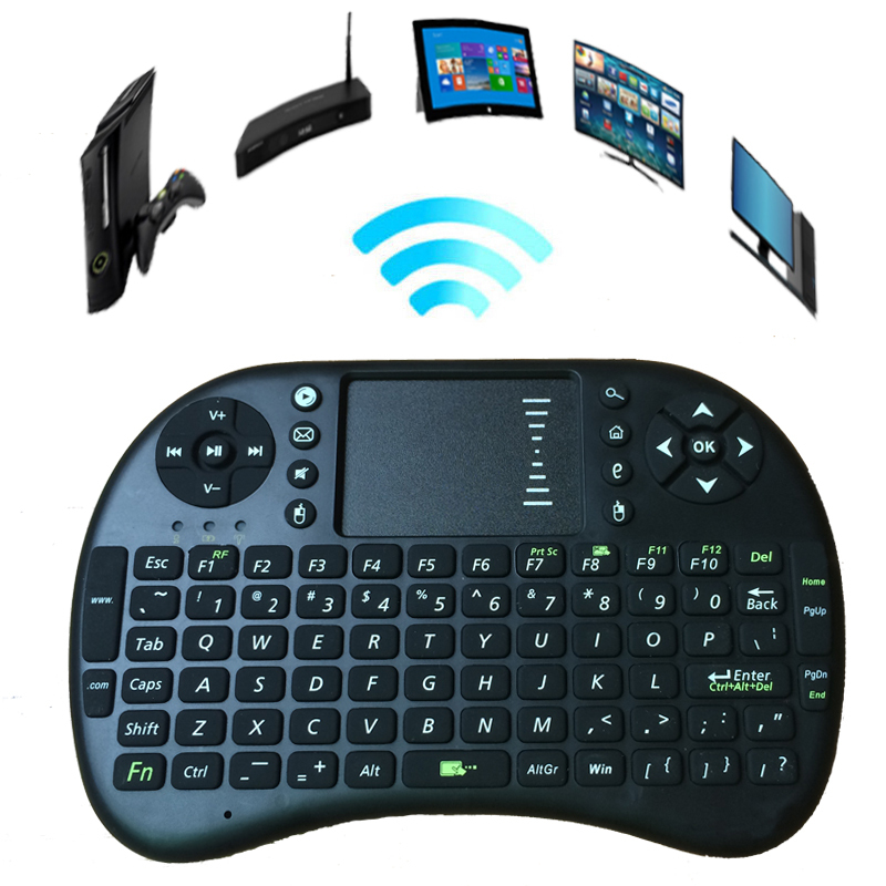 Гаджет  Hot Selling Rii Mini i8 Wireless 2.4G Keyboard with Touchpad Gaming Air Fly Mouse For Smart Phone TV Box PS3 XBox Laptop PC iPad None Компьютер & сеть