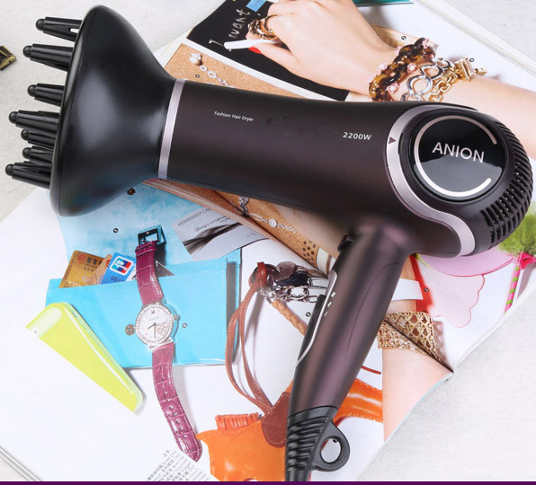 Professional Salon Styling Tools Ceramic Ionic Hair Dryer 2200W Health Monitors Products secador de cabelos profissionais(China (Mainland))