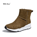 High Quality Women Snow Boots Fashion Suede Wedges Shoes Woman Brand 2016 Winter Round Toe Sexy