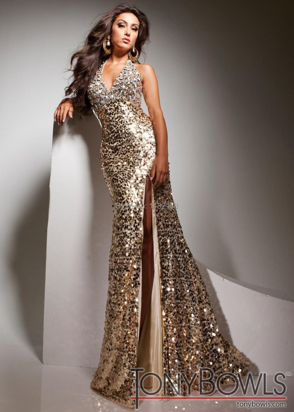 Top Evening Dresses Gold Formal Evening Dresses