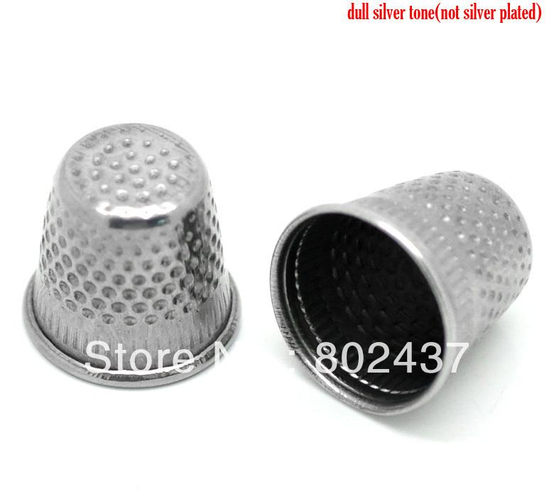 "30PCs Silver Tone Sewing Thimbles 19x18mm(3/4""x3/4""), B18634, yiwu(China (Mainland))"