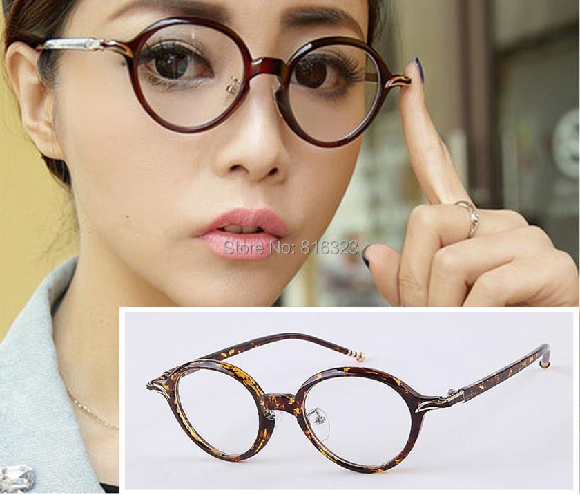 Vintage Eyeglass Frame Oval Glasses Retro Horn Design Clear lens Man Women RX(China (Mainland))