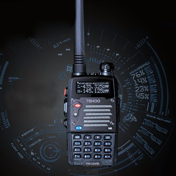 Dual-Band/Display/Standby 8W VHF/UHF LCD FM Transceiver LED Light Walkie Talkies Two Way Radio(China (Mainland))
