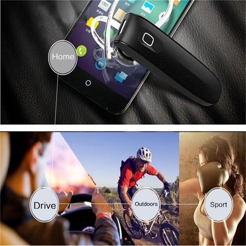Stereo Music Headset Bluetooth Earphone 4.0 Earhook Headphone Mini Wireless Handfree Universal for Samsung iPhone HTC Xiaomi