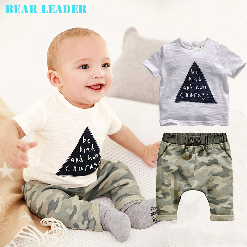 Bear Leader 2016 Kids Boys Summer Style Infant Clothes