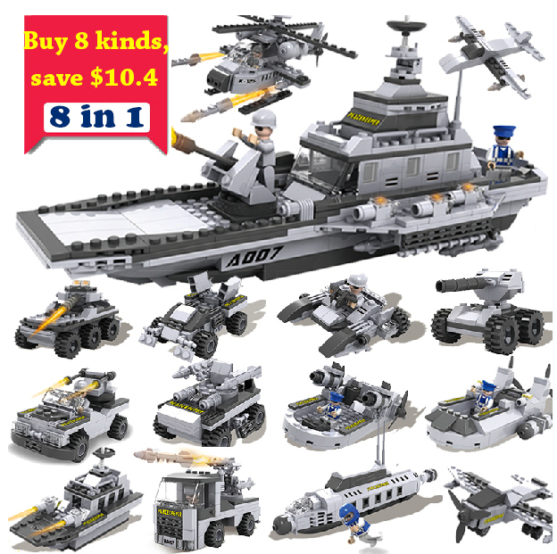 Building Blocks Set cogo 13007 warcraf helicopter tank war Enlighten Educational military Bricks DIY Kids Gifts Toy  -  Kay Chen's store store