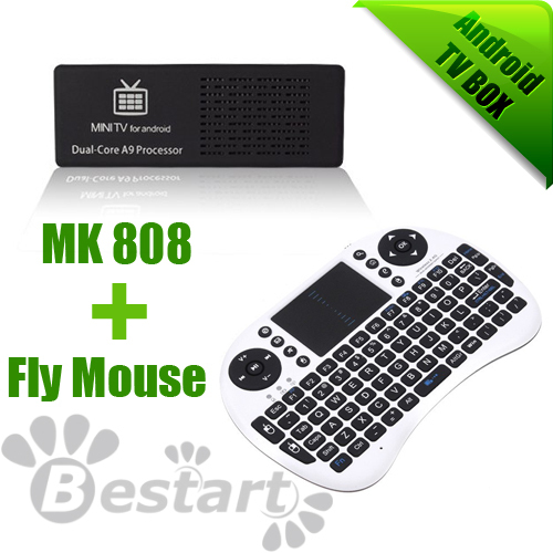 New IPTV, MK808 + Keyboard, Dual Core RK3066 1.2 GHZ Android 4.1.1 RAM 1GB ROM 8GB, Android TV Box, Dual Antenna, HDD player(China (Mainland))