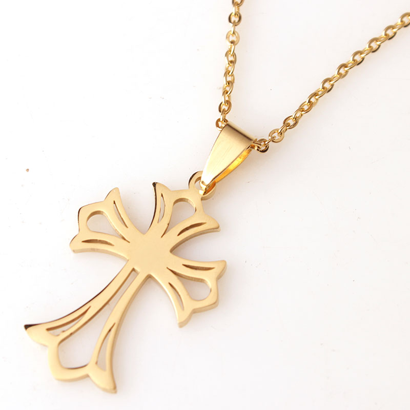 rdw jewelry stainless steel gold cross pendant necklace