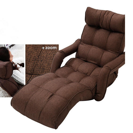 Floor Foldable Chaise Lounge Chair 3Color Adjustable Recliner Living Room Fur