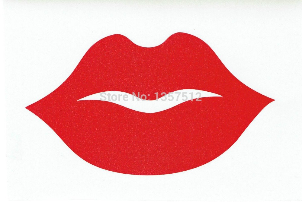Free Shipping Big Thick Red Lips Car Sticker For Truck Window Bumper Auto SUV Door Kayak Vinyl Decal 8 Colors(China (Mainland))