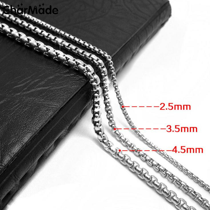 Mens Boys ROLO Chain&Necklaces 100% Stainless Steel Men Jewelry Long Chain Necklace For Pendant Top Quality 32 36 inch C002(China (Mainland))