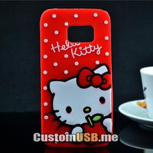 Samsung Galaxy S7 Case 3D Lovely Cute Hello Kitty Kt Cat Silicon Back Soft Cover Phone - CustomUSB Technology Co., LTD store