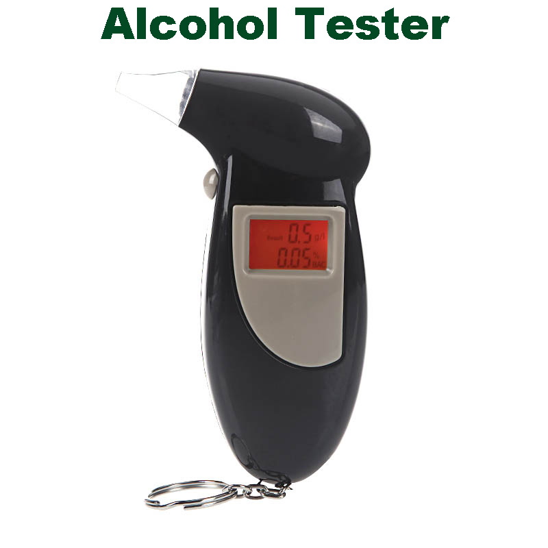 Backlight display digital professional police did not sound alarm breath alcohol tester testing device parking(China (Mainland))