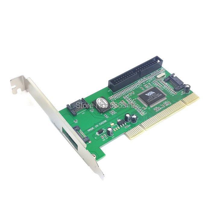 3 Port SATA & IDE PCI Controller RAID Card Adapter VIA6421 Chipset for Hard Disk Drive & Server(China (Mainland))