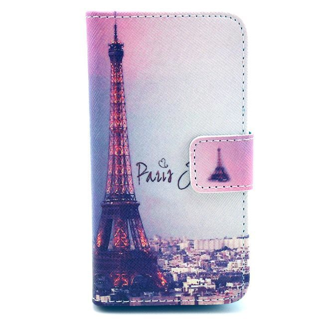 Night Scene Paris Eiffel Tower Magnetic Flip PU Leather Wallet Card Holder Stand Case Cover For Iphone 4 4G 4S(China (Mainland))