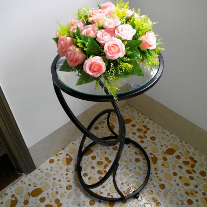 Direct Continental Iron glass end table personality small round table side a few corner a few phone a few Coffee few ready(China (Mainland))