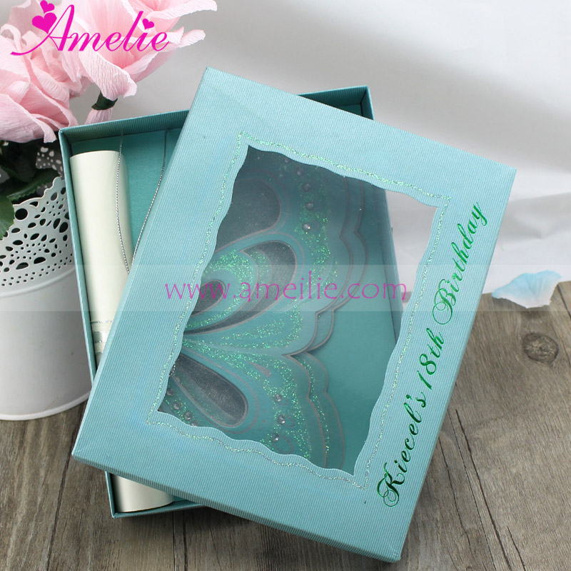 Unique Wedding Gifts 2017 : 2017 Handmade Unique Wedding Card Invitation DIY Butterfly Stock ...