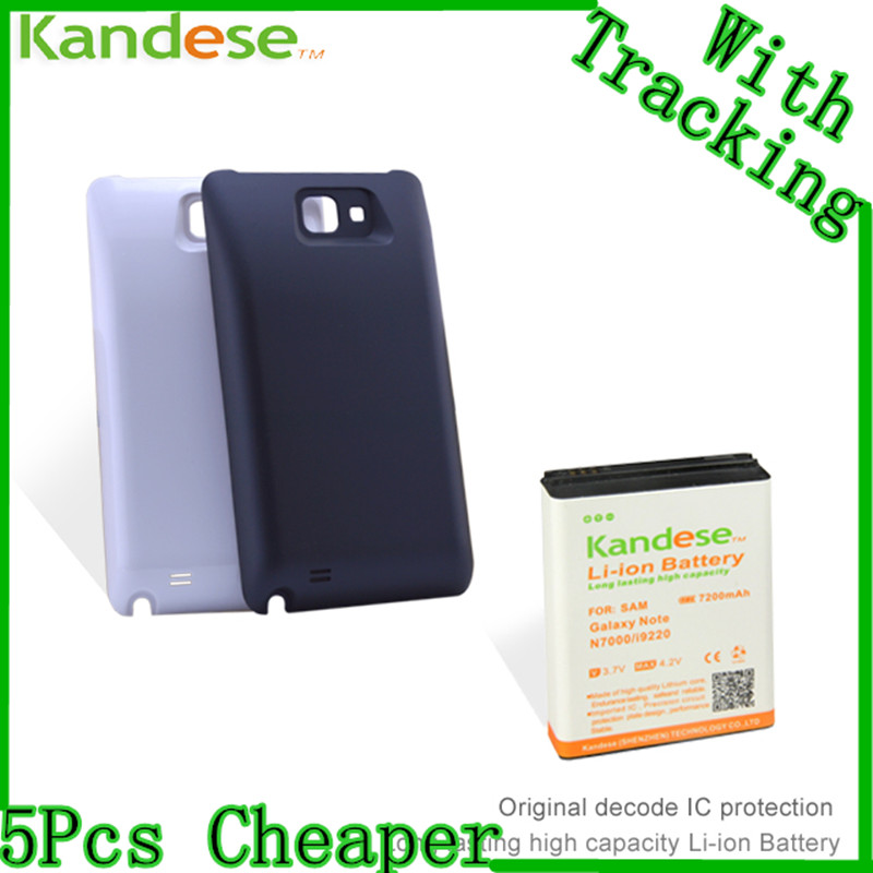 Kandese Extended Large Capacity 7200mAh Lithium Battery Replacement for phone Samsung Galaxy NOTE N7000 I9220 with back cover(China (Mainland))