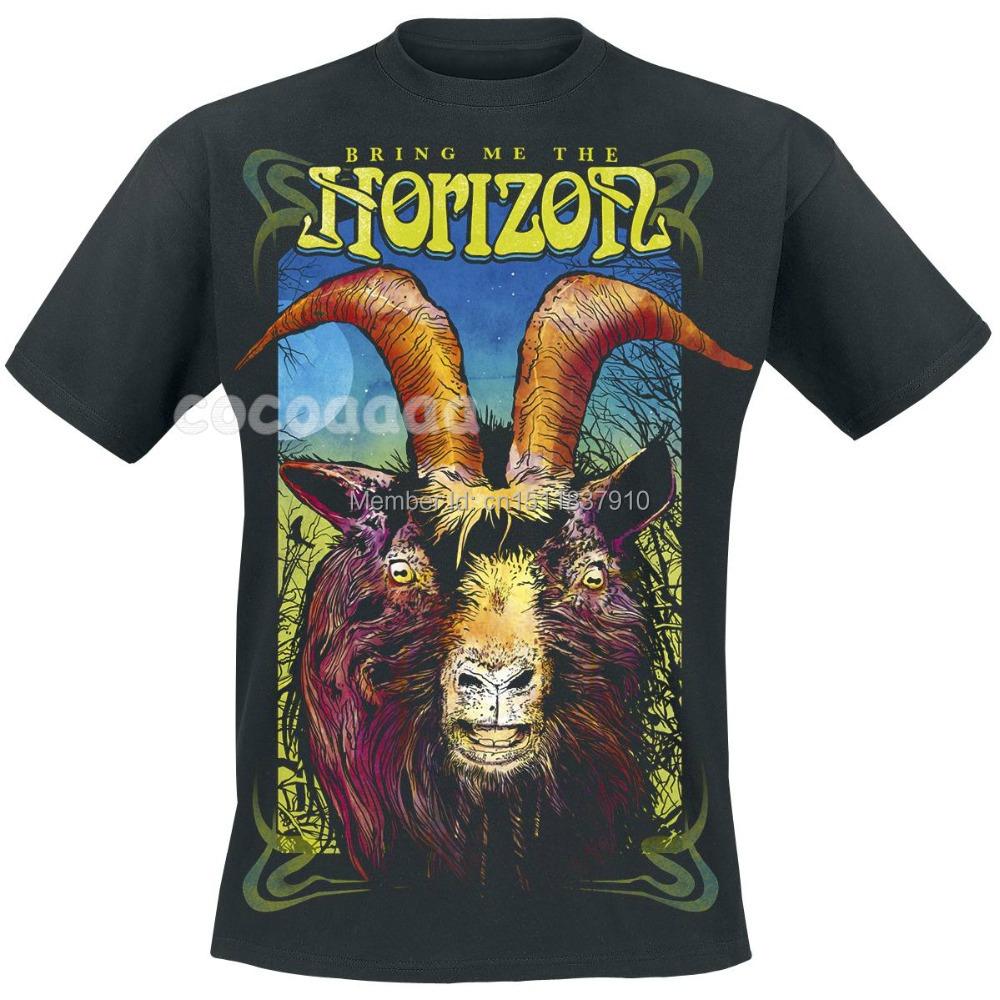 EVil Goat Bring Me The Horizon Rock Brand shirt 3D mma fitness Hardrock heavy Dark Metal 100%Cotton funny t shirts skateboard(China (Mainland))