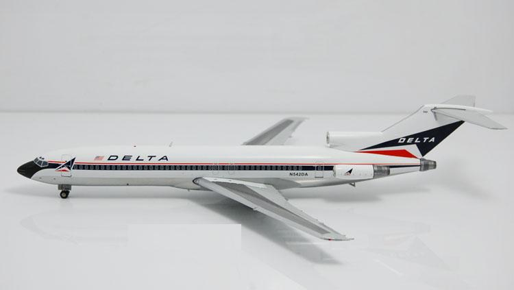Free Shipping Delta Air Lines B727-200 N542DA Airplane Juguetes 1:200 Scale Models Figures Brinquedos Plane Model Classic Toys(China (Mainland))