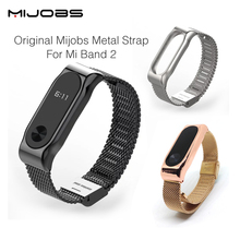 Buy Original Mijobs Metal Strap Band MiBand 2 Wristbands Stainless Steel Bracelet Xiaomi Mi Band 2 Replace Mi Band 2 for $7.87 in AliExpress store