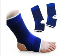 HOT!!2014 New Ankle Foot Protector Support Elastic Brace Guard Sport Gym Sock Wrap Twin Pack(China (Mainland))