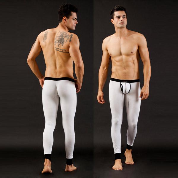 Мужские сексуальные малоэтажных модальных белье кальсоны тепловой штаны белье брюки падение судоходство