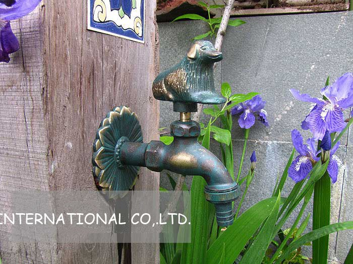 Free shipping brass faucets/mop faucets/dog faucet/Animal washing machine tap(China (Mainland))