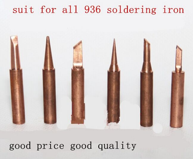 free shipping 6pcs lot pure copper iron tip 900m t soldering tip for hakko soldering rework. Black Bedroom Furniture Sets. Home Design Ideas