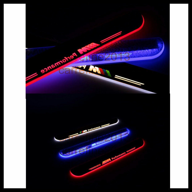 hot new products led moving door sill plate for BMW F10 F18 5 series led door sill plate/door scuff 2010-2013(China (Mainland))