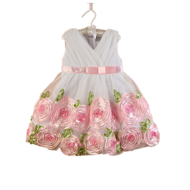 Wholesale  Baby girls floral dress  kids party dress  <br><br>Aliexpress