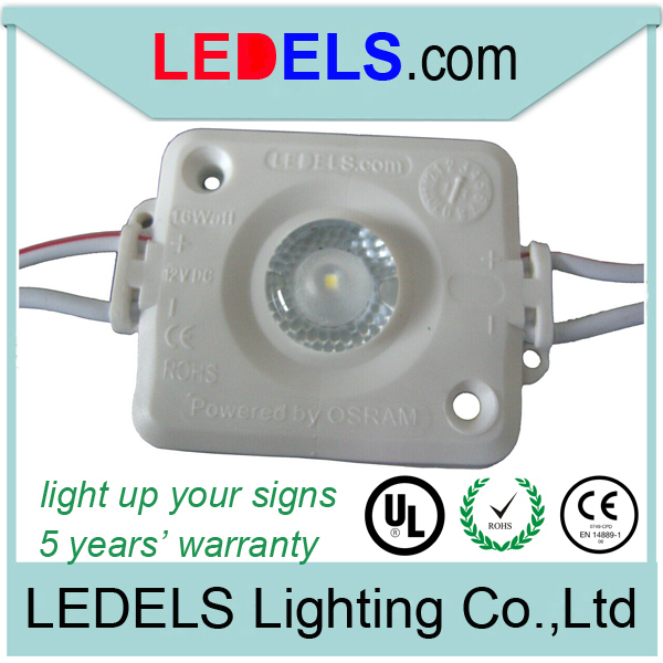 UL listed led sign module for backlight light box 160 degree 12V 1.6W 120lm powered by Osram NICHIA 5 years warranty waterproof(China (Mainland))