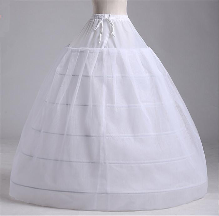 Wholesale retail white petticoat crinoline ball gown plus for Plus size wedding dress petticoat