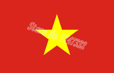 Vietnam Asia National Flag All Over The World hot sell goods 3X5FT 150X90CM Banner brass metal holes(China (Mainland))