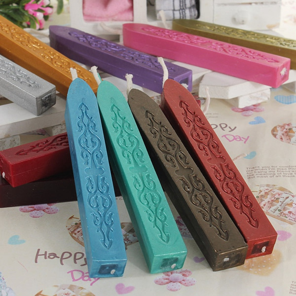 Lowest Price 5pcs Colorful Sealing Wax Stick Stamp Wax For Documents Sealing New Arrival