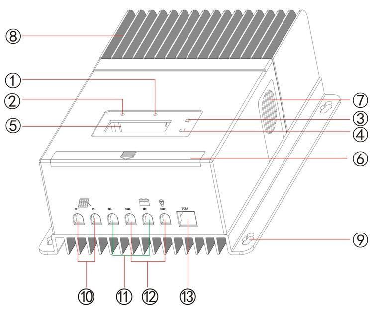 ys-6015a 60a 12v 24v 48v mppt solar controller - mppt