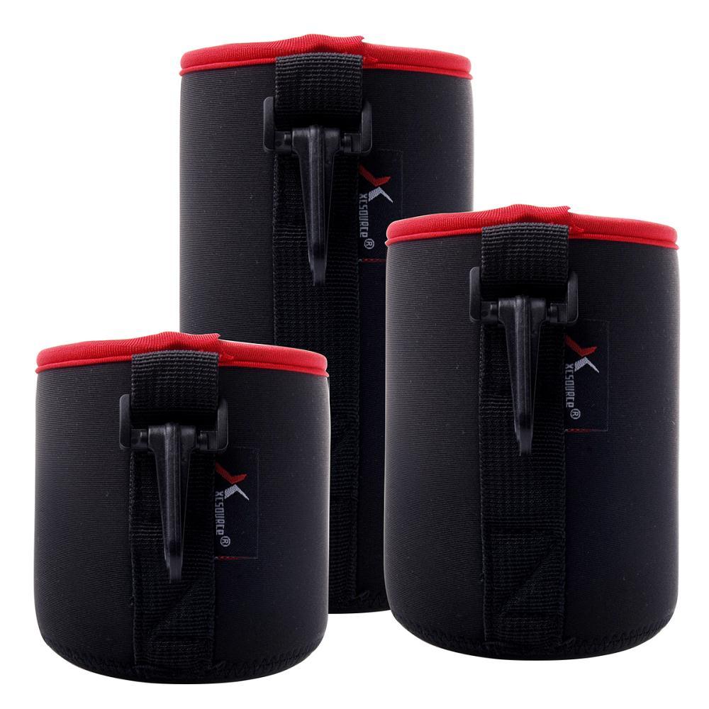 Neoprene Soft DSLR Lens Bag Pouch Case Protector + Belt Loop Size: S+M+L DC505(China (Mainland))