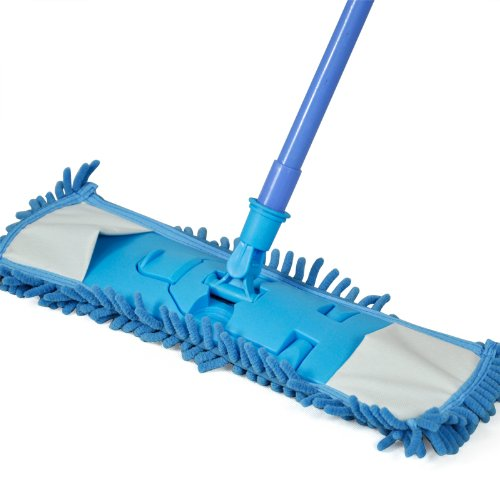 High Quality Smallwise Trading Extendable Microfibre Mop Kitchen Noodle Mop Vinyl Wood Floor Cleaner (Blue)(China (Mainland))
