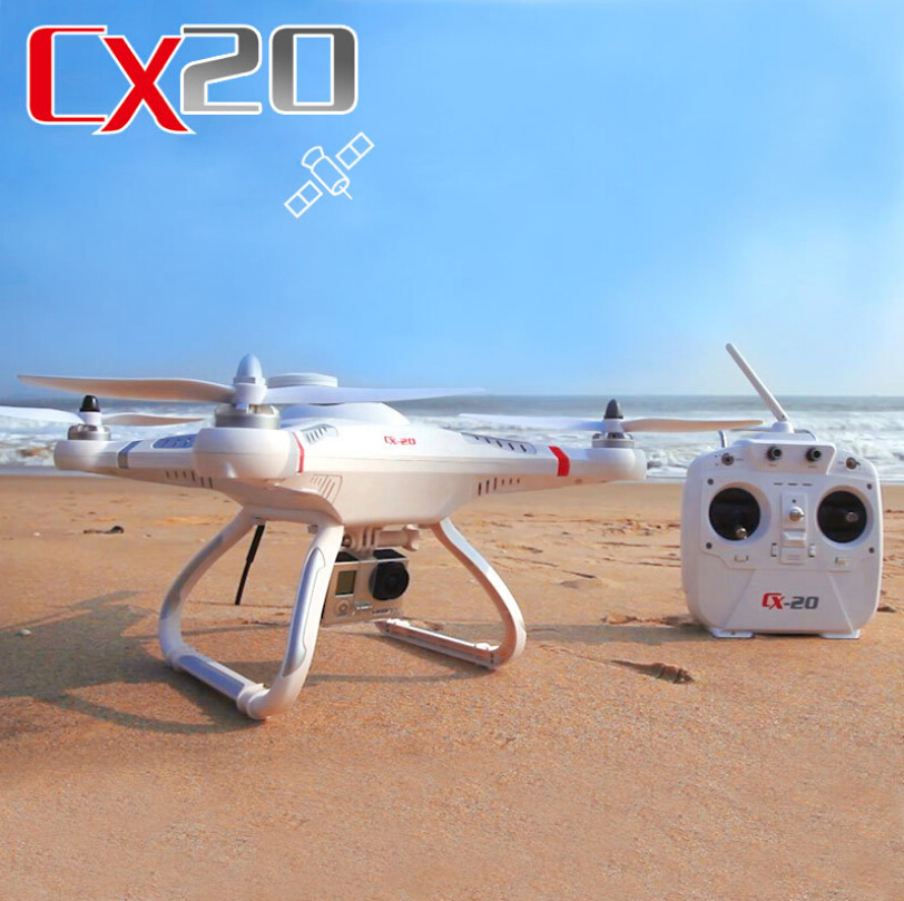 Brand New GPS 2.4G RC Quadcopter CX20 CX-20 Auto-Pathfinder Aircraft FPV RC Quadcopter gopro With GPS Camera optional Drone RTF(China (Mainland))