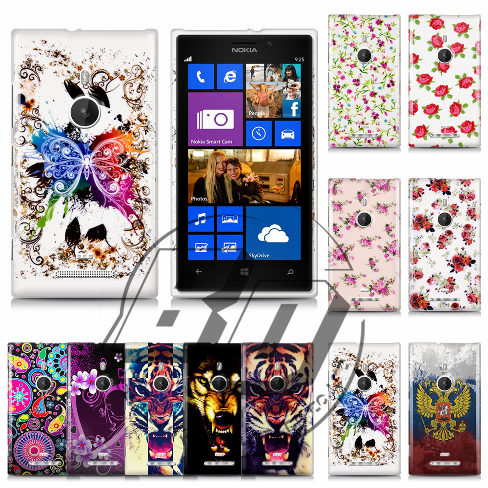 Nokia Lumia 925 TPU Plastic Butterfly Flower Printed Soft Back Cell Phones Gel Case Bags Cover - jemeiy second store