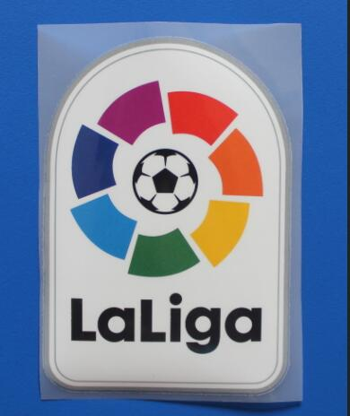 top quality Small and Big, Plastic and embroidery LFP patch, Embroidered La Liga Patch Soccer Patch Badges FVEEF Free Shipping(China (Mainland))