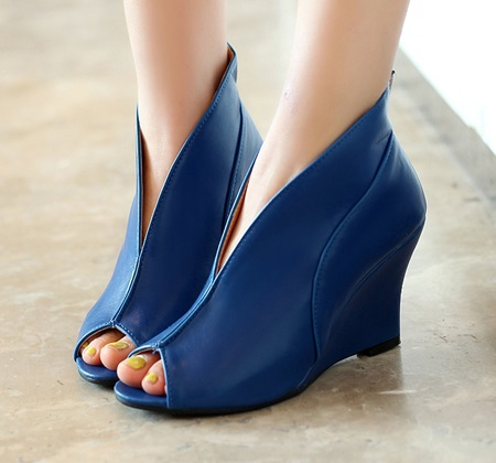 Simple fashion 2014 new sexy fish mouth toe Set foot woman's high heels pumps black white blue shoes banquet wedding shoes 34-43(China (Mainland))
