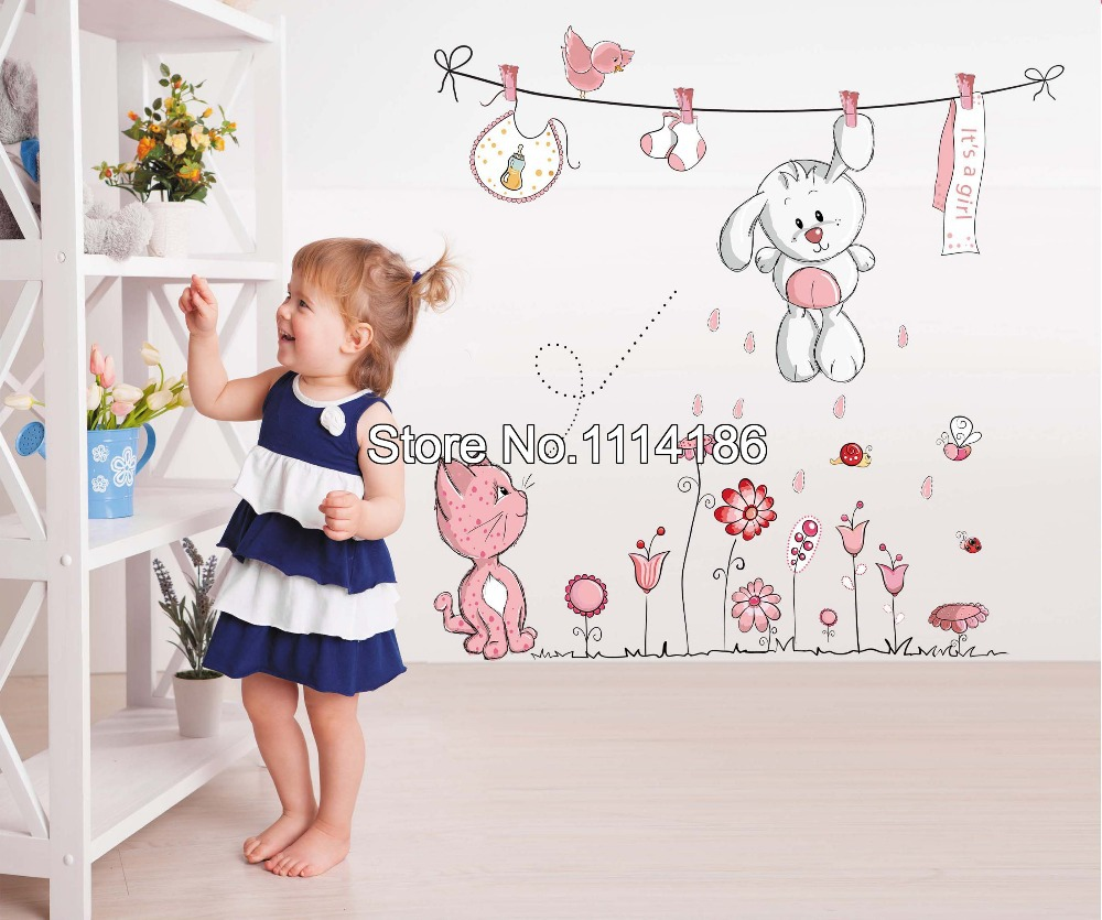 Baby girl wall decor
