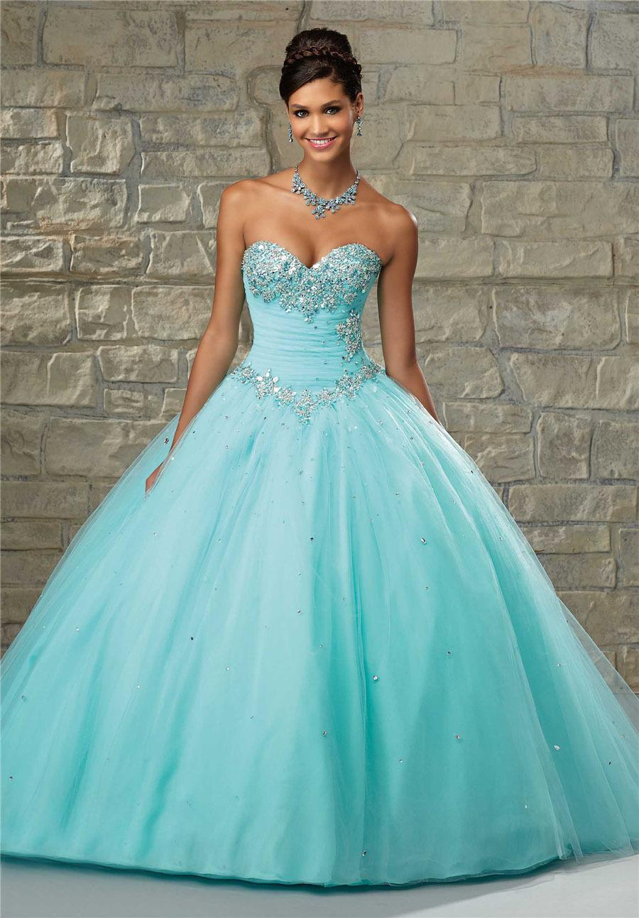 Elegant Ball Gown Quinceanera Dresses 2016 Sweetheart Shoulder Dress 15 Years Vestidos de 15 Anos Sweet 16 Dresses B2