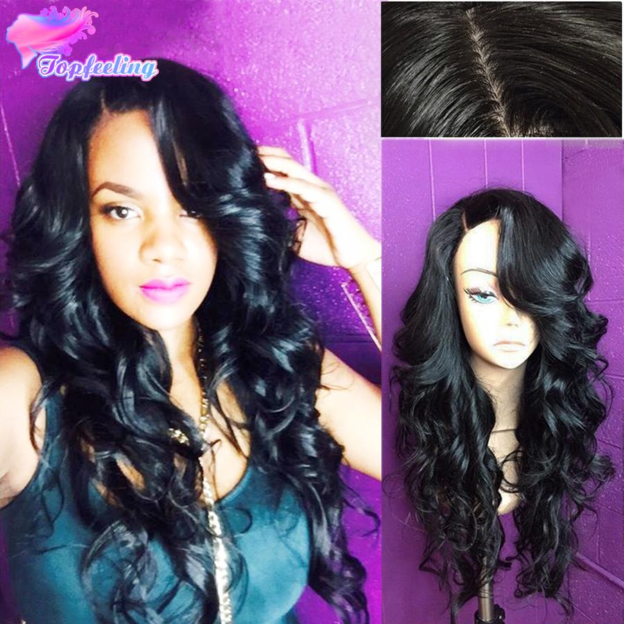 Здесь можно купить  7A Brazilian Loose Wave Silk Top Glueless Full Lace Wigs With Bangs Virgin Human Hair Silk Top Full Lace Wigs Wavy Silk Base Wig  Волосы и аксессуары